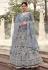 Grey net sequins work lehenga choli 5903