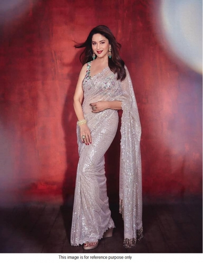 Bollywood Madhuri Dixit inspired sequins saree