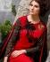 Deep red Party wear straight cut salwar kameez