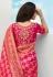 Pink banarasi silk festival wear saree 10100