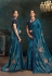 Blue silk stone work saree 21106