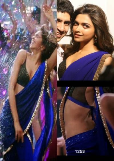 Deepika yeh jawaani hai deewani blue saree