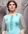 Sky blue geogette Party wear straight cut salwar kameez