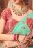 Light green silk embroidered festival wear saree 1074