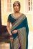 Blue silk party wear saree 6402
