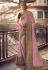 Pink silk party wear saree 6403