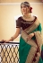Green silk party wear saree 6407