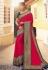 Magenta silk festival wear saree 6409