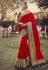 Red silk festival wear saree 6401