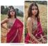 Bollywood model mirror work ruffle saree