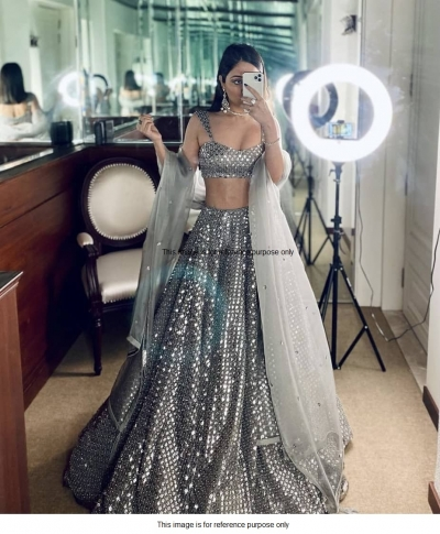 Bollywood model grey sequins lehenga choli