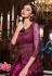 Magenta net embroidered indo western lehenga choli 4627