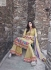 Beige colour palazzo style Party wear straight cut salwar kameez