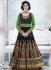 Velvet black and green Wedding Wear Designer Anarkali salwar kameez