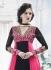 Black and pink Wedding Wear Designer Anarkali salwar kameez