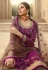 Purple jacquard silk embroidered kameez with palazzo 6702