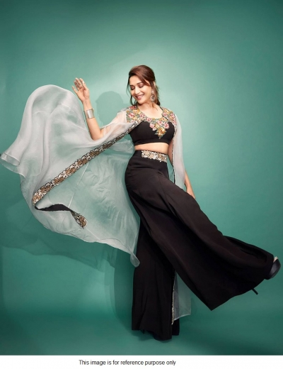 Bollywood Madhuri Dixit Inspired Black indowestern outfit