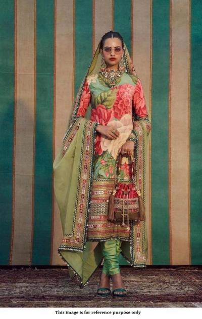 Bollywood Sabyasachi Inspired floral green churidar