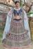 Navy blue pashmina embroidered lehenga choli 1124