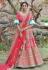 Pink pashmina embroidered lehenga choli 1121