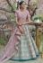 Pink pashmina embroidered lehenga choli 1125