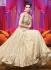 Cream colour Wedding Wear Designer Anarkali salwar kameez