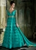 Turquoise blue and mustuard Designer Wedding Wear Anarkali kameez