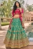 Sea green banarasi silk embroidered lehenga choli 10118