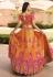 Yellow banarasi silk embroidered lehenga choli 10119
