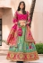 Light green banarasi silk embroidered lehenga choli 10120