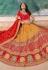 Yellow banarasi silk embroidered lehenga choli 10121