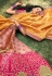 Peach banarasi silk embroidered lehenga choli 10126