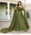Bollywood model Olive green georgette sequins lehenga