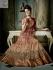 Beige and wine colour Designer Wedding Wear Anarkali kameez