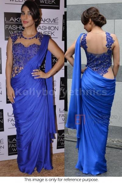 Sophie choudhary Blue Bollywood saree