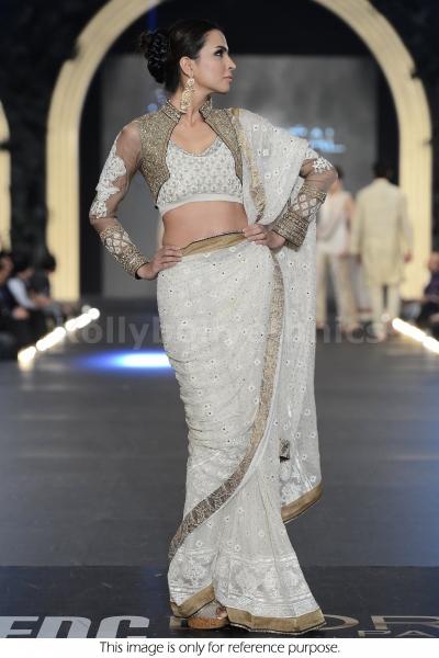 Sangemarmal White Designer Saree