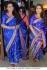 Rani mukerjee silk georgette blue saree