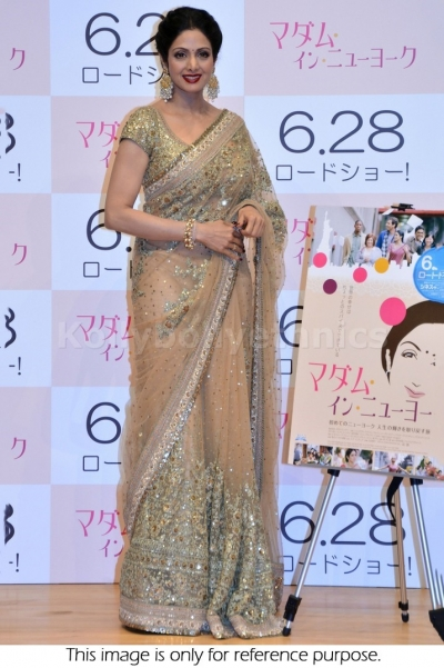 Sridevi golden saree