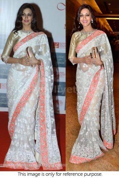 Sonali bindre white saree