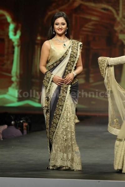 Rashmi desai double shaded bollywood saree