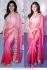 Samantha pink bollywood saree