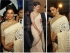 Deepika Padukone cream colour bollywood saree