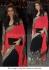 Karishma Tanna black and red bollywood saree