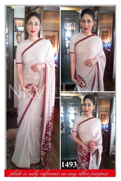 Kareena kapoor pink and red bollywood saree
