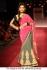 Pink and grey lakme fashion week bollywood saree
