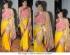 Mandira Bedi yellow and pink Saree