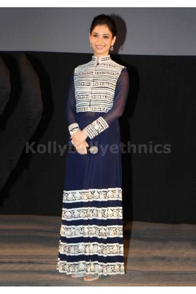 Tamanna Bhatia navy blue long Bollywood Anarakali