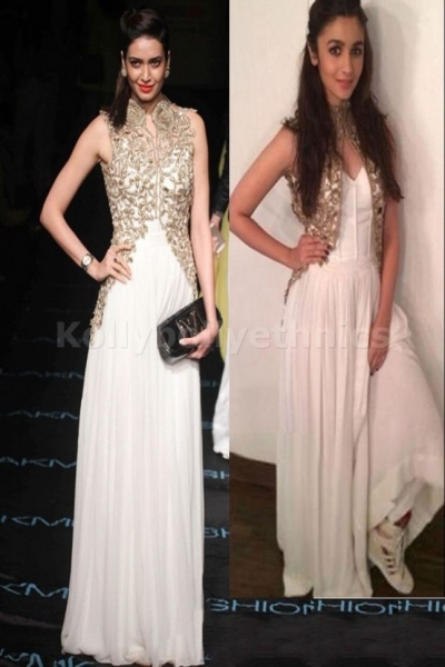 Alia bhatt , karishma tanna white Bollywood Anarkali