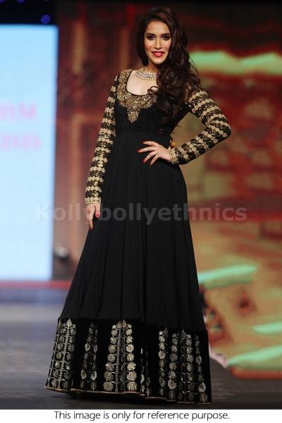 Rasmi nigam black and gold Bollywood Anarakali