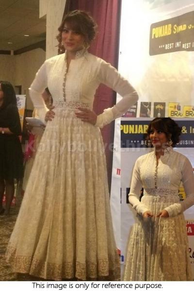 Bipasha basu cream colour Bollywood Anarakali